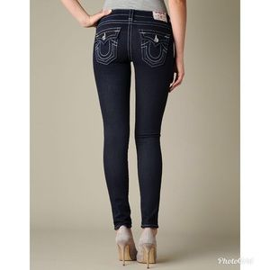 True Religion Skinny Blue Triple Stitch Jeans
